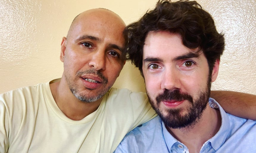 Mohamedou Ould Salahi, left, with Laurence Topham
