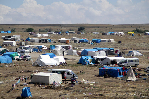 Refugee camp for Syrians in Cappadocia, Turkey, 2014