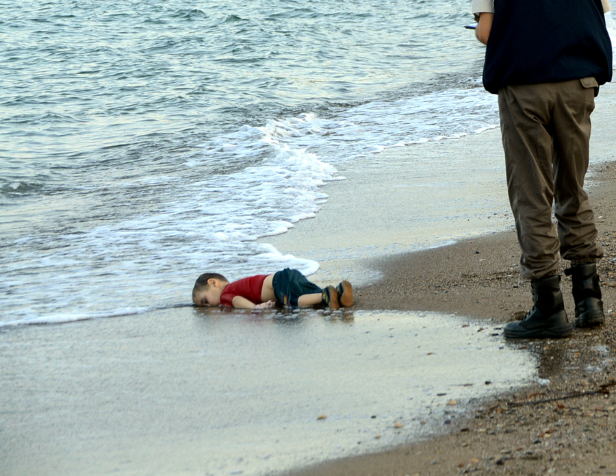 September 2, 2015. Three-year-old Aylan Kurdi, washed up lifeless on a beach in Turkey. He, his brother and mother drowned after their small boat capsized.